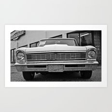 Chevy II closeup Art Print