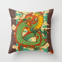 Serpent of the Wind Throw Pillow