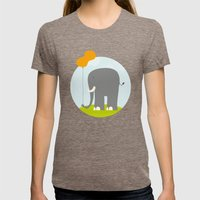 Peanut Womens Fitted Tee Tri-Coffee SMALL