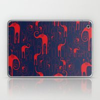 Elephant heard blue Laptop & iPad Skin