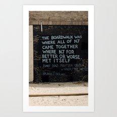 Jersey Shore Boardwalk / Junot Diaz Quote Art Print