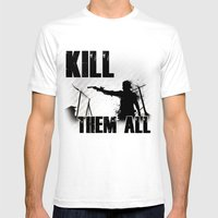 The Walking Dead Rick Mens Fitted Tee White SMALL