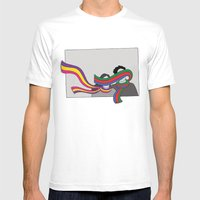 Scarves Mens Fitted Tee White SMALL