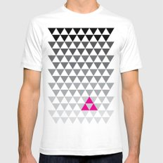Geometry White Mens Fitted Tee SMALL