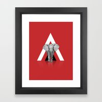 Because I Can't Forget - RED Framed Art Print