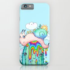 Happy Snail on a cactus iPhone 6 Slim Case