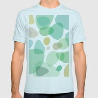Sea Pebbles Mens Fitted Tee Light Blue SMALL