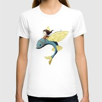 Flying Fish Womens Fitted Tee White SMALL