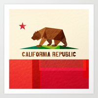logo Art Prints featuring California by Fimbis
