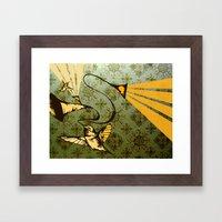 analog zine - song bird Framed Art Print