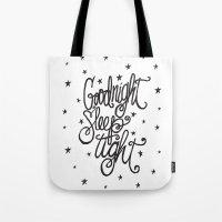 GOODNIGHT SLEEP TIGHT Tote Bag