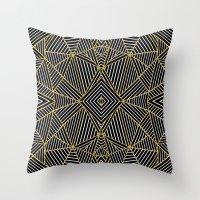 Ab Half Gold Throw Pillow