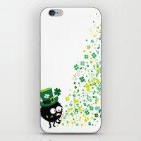 Blowing Shamrocks iPhone & iPod Skin