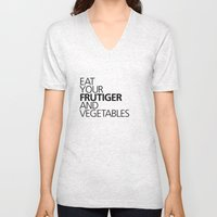 EAT YOUR FRUTIGER AND VEGETABLES Unisex V-Neck