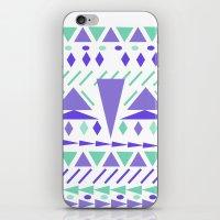 Arctic Aztek White iPhone & iPod Skin