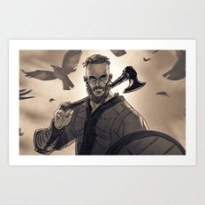 Ragnar Lothbrook Art Print