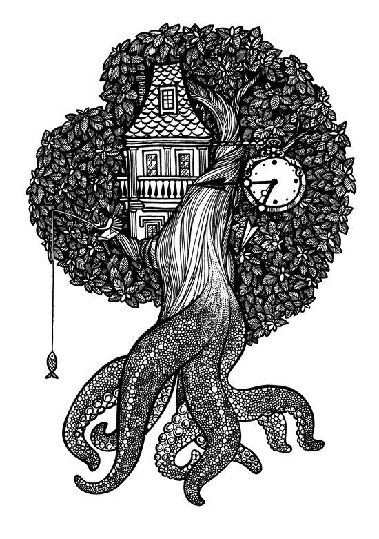 Octotree Art Print