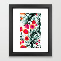 Olivia Flower Framed Art Print