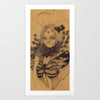Lamproptera Meges Art Print