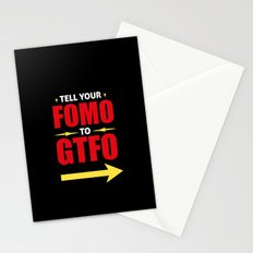 Tell Your FOMO To GTFO Stationery Cards