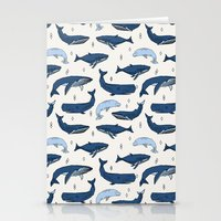 Whales by Andrea Lauren Stationery Cards