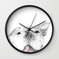 Whaddup :: A Pit Bull Sm… Wall Clock