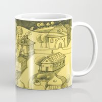 Moonlit Village Mug