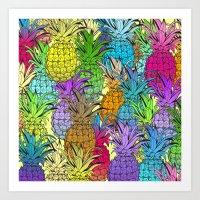 Pineapple Parade Art Print
