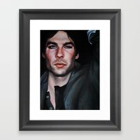 Ian Somerhalder (Damon from Vampire Diaries) Framed Art Print