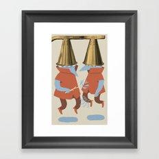 Wizard Battle Framed Art Print
