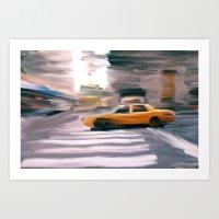 Taxi Cab. Art Print