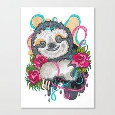 Happy Sloth Canvas Print