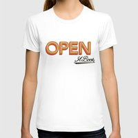 Open A Book Womens Fitted Tee White SMALL