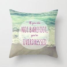 Barefoot Summer Throw Pillow