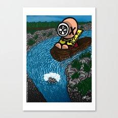 La chute Canvas Print