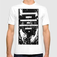Inaudible... Mens Fitted Tee White SMALL
