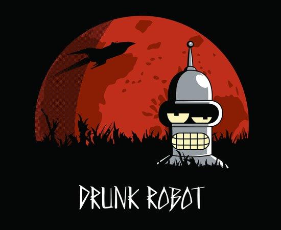 Drunk Robot Canvas Print