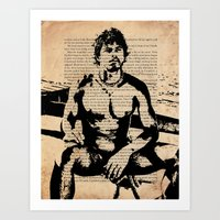 He Worked on His Father's Fishing Boat Art Print