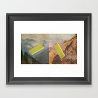 RAIN BOW MOUNTAINS Framed Art Print