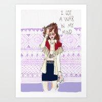 I Got A War In My Mind Art Print