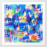 Tropico Blue Art Print
