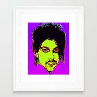 Prince / Warhol Remix Framed Art Print
