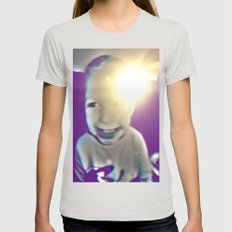 ma boy Womens Fitted Tee Silver SMALL