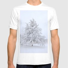 Winter Wonderland SMALL Mens Fitted Tee White