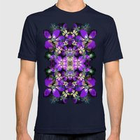 Light Show Mens Fitted Tee Navy SMALL
