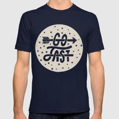 Go Fast Mens Fitted Tee Navy SMALL