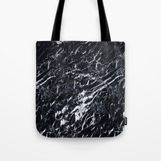 Real Marble Black Tote Bag