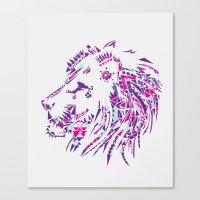 Aztec Lion Canvas Print