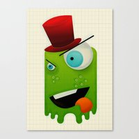 Scary Monster Canvas Print