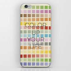 Color up your life iPhone & iPod Skin